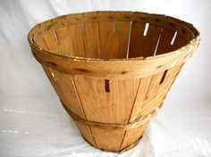 Antique Wooden Basket Antique Storage Basket Antique Decor