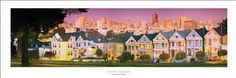 San Francisco Postcard Row, Golden Gate Bridge Panoramic (Panorama) Art Print Poster - List price: $24.95 Price: $17.46 Saving: $7.49 (30%)