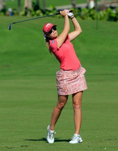 PAULIE CREAMER | Paula Creamer Paula Creamer plays a shot on the fourth hole during the ...