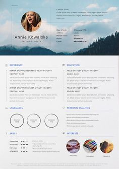 Simply put, a resume is a one- to two-page document that sums up a job seeker's qualifications for the jobs they're interested in. More than just a formal job application, a resume is a… Best Cv Template, Best Free Resume Templates, Resume Design Template, Graphic Design Cv, Cv Design, Word Design, Resume Format, Resume Cv, Cv Inspiration
