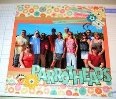 Parrothead scrapbook layout Key West goodgollymsmollyblog.blogspot.com