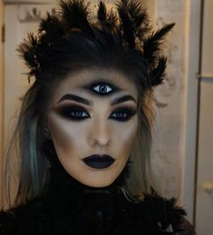 Halloween makeup and dress-up, I believe everyone will like it.halloween, makeup, pretty, Looks Scary Halloween Costumes, Halloween Kostüm, Halloween Face Makeup, Rave Makeup, Scary Makeup, Zombie Makeup, Pretty Makeup, Simple Makeup, Nightvale Cosplay