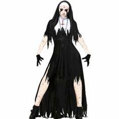 Adult/'s Nun Costume Small Dress Fancy Ladies Outfit Habit Religious Hen