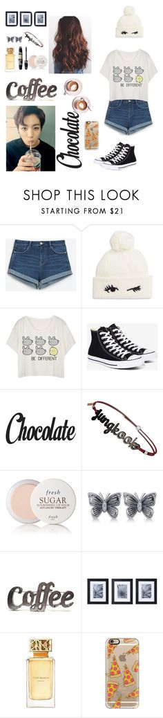 """Coffee date with jungkook"" by kookie8 ❤ liked on Polyvore featuring Zara, Kate Spade, Martha Stewart, Converse, Max Factor, Fresh, Allurez, Rustic Arrow, Mikasa and Tory Burch"