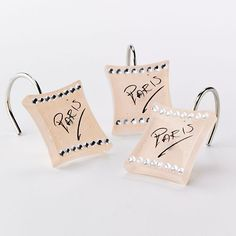 Sherry Kline Paris 12 Pk Shower Curtain Hooks 2499