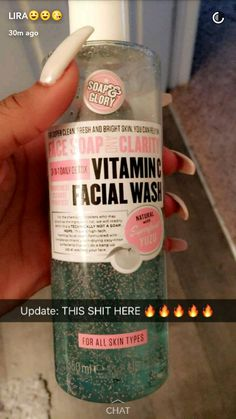 """Got this """"face wash"""" after seeing this and I love it. It really takes off all my makeup in one wash. For mascara sometimes I have to do a second wash just for those stubborn pieces, but girl, this bottle is gonna last me a while. My face feels squeaky clean and it's awesome that it has vitamin C. Perfect for a girl who hates taking a long time washing her makeup off at the end of the day. ~~~~~~~~~~~~~~~~~ credit : wavykiara"""
