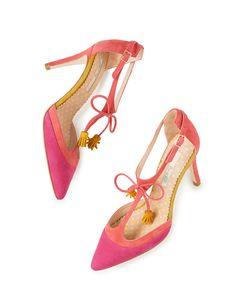 Alice Heel pink and coral heel Boden