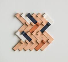 Tierras Tiles by Patricia Urquiola for Mutina in Herringbone