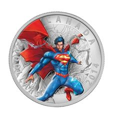 """2016 Canada Superman Man of Steel 1 oz Silver Coin - The Superhero has his own 2016 coin 1 oz of fine silver. The Superman """"S"""" shield on the Reverse. Dc Comics, Superman Comic Books, Superman Stuff, Canadian Coins, Adventures Of Superman, Comic News, Superman Man Of Steel, Commemorative Coins, Old Coins"""