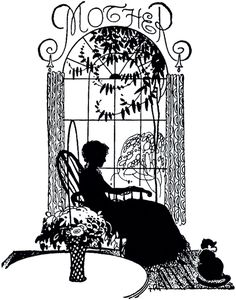 Mother's Day Silhouette Image