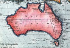 Map of Australia (1802). One of the first that separated Tasmania from the mainland.