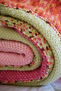 Ravelry: Bright Blanket (machine knit) pattern by Betty Nolan