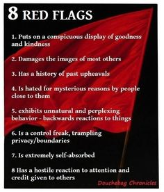 Red flags of Narcissists