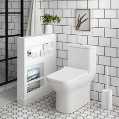 Swiss Madison Carre GPF Dual Flush Square Toilet in White, Seat Included, Glossy White Bathroom Toilets, Bathroom Renos, Master Bathroom, Remodel Bathroom, Budget Bathroom, Bathroom Cabinets, Small Shower Bathroom, Small Bathroom Designs, Basement Bathroom Ideas