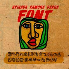 DINGBAT BRIGADA RAMONA PARRA on Behance Street Art, Typography, Behance, Graphic Design, Latina, Illustration, Fonts, Fictional Characters, Murals