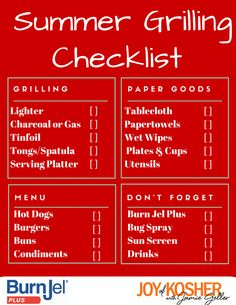 A Summer BBQ Checklist - everything you need so you can grill like a pro