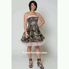 This dress but in mossy oak