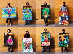 Trabajos realizados por alumnos en el taller dictado por William Gutierrez Foto:Gentileza Popular de Lujo