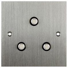 Interrupteur à bouton poussoir / triple / en inox / contemporain BASSE TENSION 85*85 - TRIANGLE 6ixtes PARIS