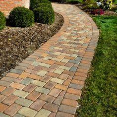 Brick Pathway, Paver Walkway, Walkways, Sidewalk Landscaping, Garden Landscaping, Garden Yard Ideas, Lawn And Garden, Garden Edging, Garden Paths