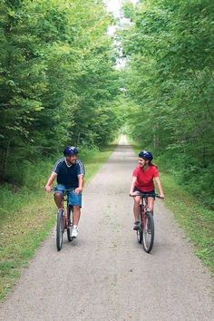 Climb atop an iron horse on PEI's Confederation Trail, part of the Trans Canada Trail system. The Confederation Trail extends 279 km across the island through communities such as Charlottetown, Souris, Georgetown and Montague.