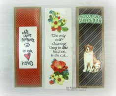 scraps, bookmarks, Graphic 45, Raining Cats and Dogs, Quietfire Design, Elizabeth Craft Designs