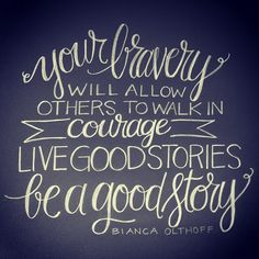 quote by Biana Olthoff | hand lettering artwork by Andrea Howey via www.instagram.com/andrearhowey
