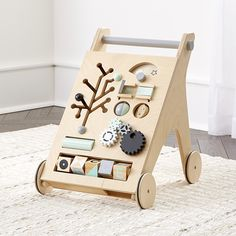 Shop for baby toys and games at Crate and Barrel. Explore a variety of wooden and plush toys, activity chairs and floor mats, rattles, teethers and more. Baby Activity Chair, Baby Activity Gym, Wooden Baby Toys, Wood Toys, Crate And Barrel, Toddler Toys, Kids Toys, Push Toys, All Toys