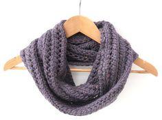 Purple chunky lace infinity scarf  £30.00