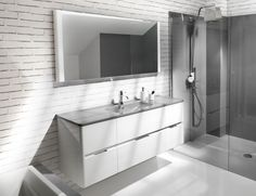 Ambiance Bain Dolce DOLC60 Modern Designer Furniture in White Lacquer