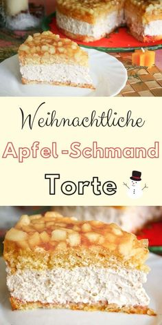 Apfel Schmand Torte – das beste Torten Rezept für die Weihnachtszeit mit Biskui… Apple sour cream cake – the best cake recipe for the Christmas season with sponge cake, sour cream and an apple-white wine layer Best Cake Recipes, Apple Recipes, Cupcake Recipes, Cookie Recipes, Dessert Recipes, Apple Sour Cream Cake, Apple Cake, Torte Au Chocolat, Dessert Design
