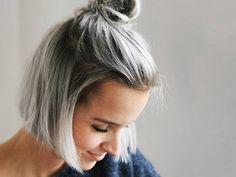 Shades of Grey: Der neue Trend vereint dunkles Grau mit hellem Blond