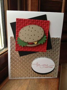 Hamburger punch art by mommacharles - Cards and Paper Crafts at Splitcoaststampers