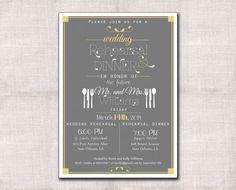 Wedding Rehearsal Dinner invitation custom by DarlinBrandoPress