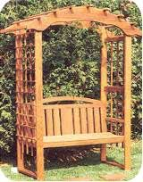 Garden Arbor With Bench Good for the back triangle