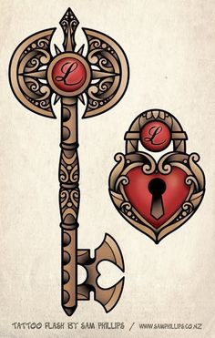 """Lock and Key Drawings 
