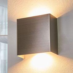 Applique led en métal enja nickel satiné Lampenwelt | La Redoute