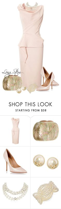 """""""7/20/14"""" by longstem ❤ liked on Polyvore featuring Marchesa, Serpui, Salvatore Ferragamo, Carolee and Napier"""