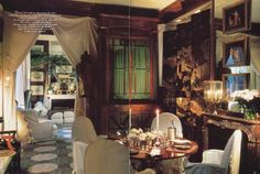 François Catroux's dining room, c. 1979, in his previous Paris residence remains…