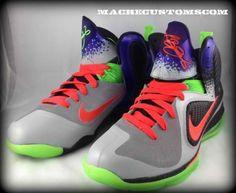 """Nike LeBron 9 """"Un-Nerf"""" Custom By Mache a3c9aac61"""