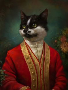 Cats lived in the Imperial Palace in 18th century Russia -- so a digital artist added them into royal portraits!