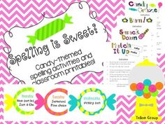 Words Their Way Candy-Themed Spelling Activity Pack
