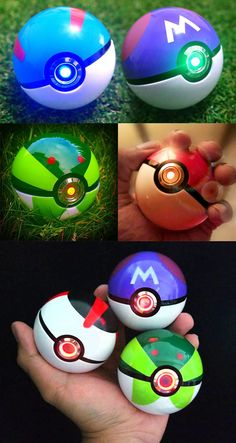 Realistic Light-Up Pokeballs #pokemon #pokeball #nintendo #anime #merchandise #cosplay