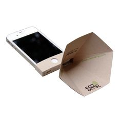 iPhone 4/4S Eco-Amp (A + R Store, $8.00) - amp up the volume, 100% eco-friendly, made in LA.