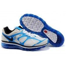 c064c7778d3 Hot Sale Mens Nike Air Max 2012 White Royal Blue Shoes online