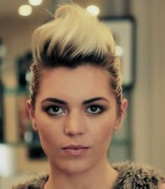 female quiff slicked back bob - Google Search