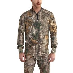 Base FORCE Extremes Cold WEather Camo Quarter Zip - The Brown Duck