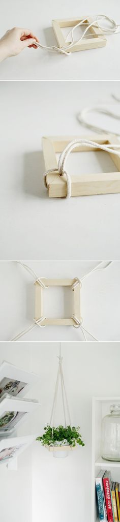 DIY Plant Stand Ideas for Indoor and Outdoor Decoration is part of Diy decor - Before you start thinking about buying more bookshelves for your pots, let me present you to your finest plantloving buddy; the DIY plant stand Diy Projects To Try, Craft Projects, Diy And Crafts, Arts And Crafts, Rock Crafts, Homemade Crafts, Creation Deco, Ideias Diy, Deco Floral