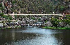 Cataract Gorge, Launceson. Walked across this suspension bridge.