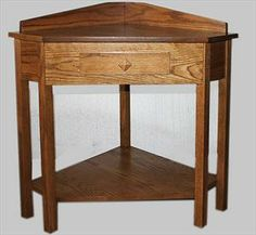 small corner tables | Amish Mission Corner Table with Drawer Available in Oak or Cherry ...